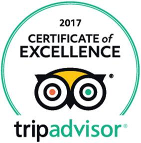 Tripadvisors Certiricate of Excellence